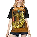 Aeros-mith Toys in The Attic Leisure Women's T Shirt Printed Short Sleeve T-Shirts Small Black
