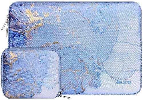 MOSISO Funda Portátil Compatible con MacBook Pro 15 A1990 A1707,Dell XPS 15, ThinkPad X1 Yoga (1-4th Gen), Surface Laptop 3 15, Bolsa Blanda de Neopreno Impermeable de Mármol Acuarela con Pequeño Caso