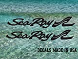 Imagnt Studio Set of 2 Sea Ray Boat Hull Marine Grade Decals 30 inches Long. Choose The Color. Made in USA, Shipped from California