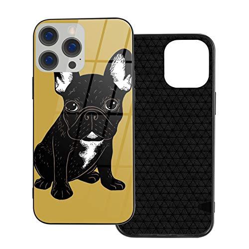 Compatibile con iPhone 12 Pro Max Caso, Full Body Rugged Caso, Morbido TPU Glass Case per iPhone 12 Pro Max 7.7 pollici, Brindle Bulldog Francese