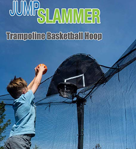 Jump Slammer Trampoline Basketball Hoop | Easy Install | Foam Ball Included | [Lifetime Parts...