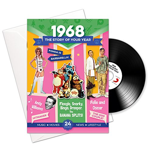 The Story of your Year - 1968. Booklet, Compliation of Hit Music and Greeting Card in one. RetroCo Ltd. [Audio CD]