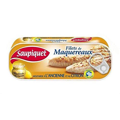 Hot Sauce reti maquerreaux vecchia senape e 1/4 limone 169g - ( Prezzo unitario ) - Saupiquet filets maquerreaux moutarde ancienne et citron 1/4 169g
