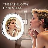 Vimdiff Digimate LED beleuchtet Kosmetikspiegel, 10-Fach Vergrößerung, 360° Schwenkbar, Make-Up...