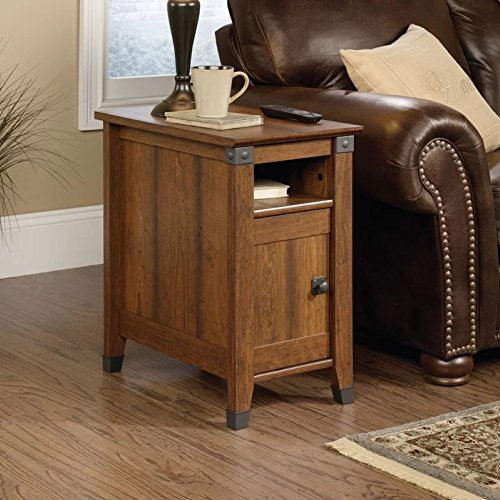 Loon Peak Newdale End Table with Storage, Side Table (Washington Cherry)