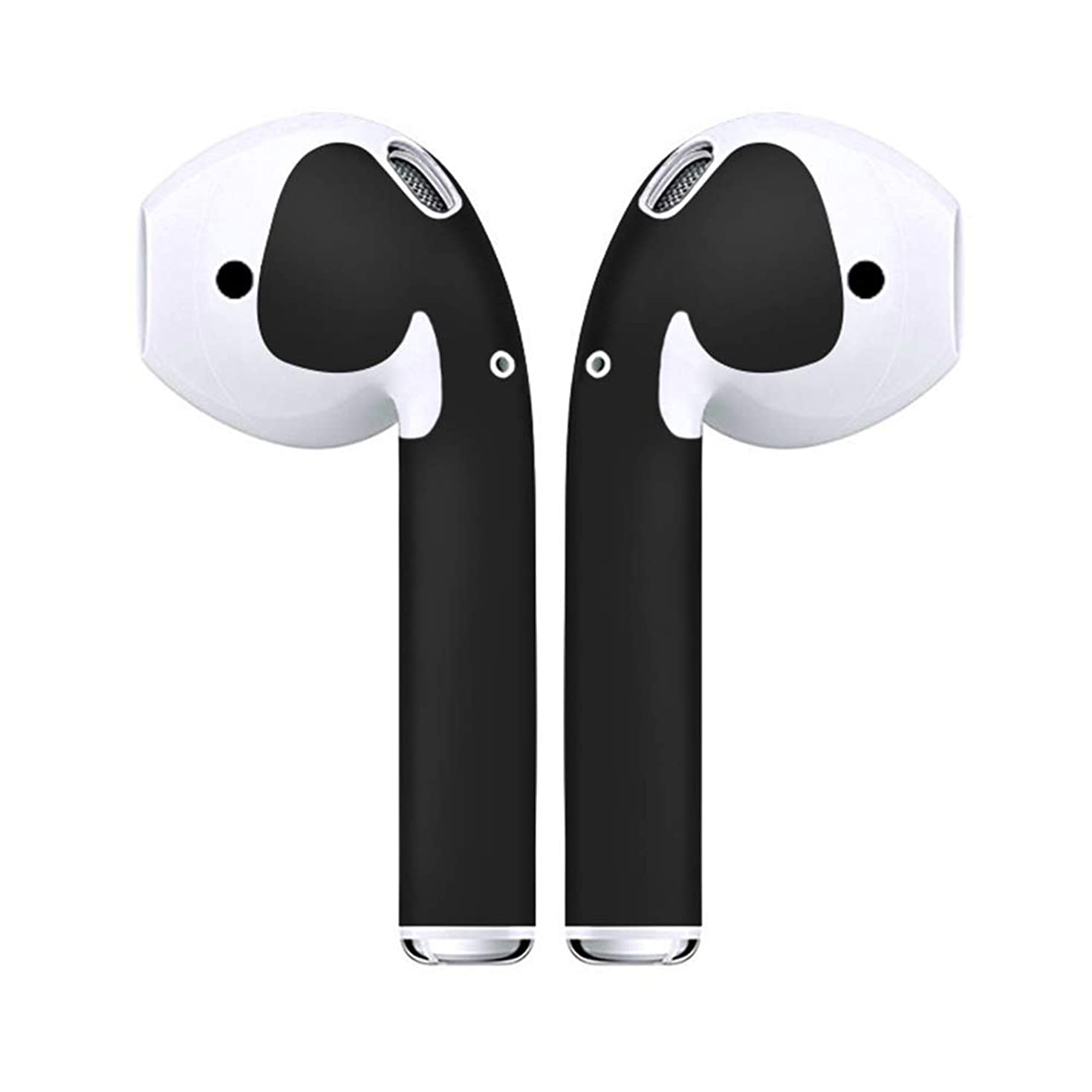 Airpod Skins Protective Wraps,Minimal Stylish Covers for Customization & Protection, Skin Sticker Compatible with Apple Airpods or 1 & 2 (Matte Black)