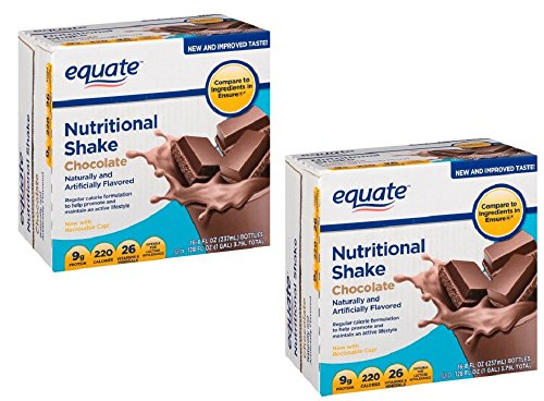 Pack of 2 - Equate Chocolate Nutritional Shake, 8 Oz, 16 ct
