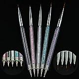 Podadoras de clavo CCI Nail Art punteado de la pluma de acrílico Rhinestone Crystal Gel UV Pintura herramienta de la manicura Dibujo Liner decoración de la flor del cepillo Set de manicura