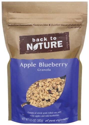 Back To Nature Apple Blueberry Granola, 13.5-Ounce Pouches (Pack of 6)