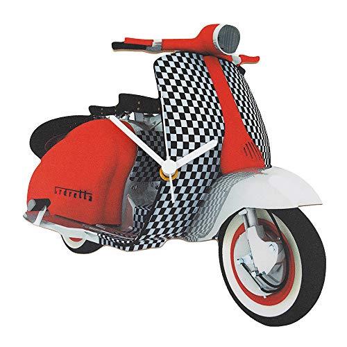 Rode en Zwarte Vespa Scooter Klok - MS8