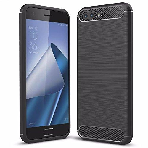 Handy Lux® Schutz Hülle Case Cover TPU Silikon für Motorola Moto Z3 Play, Schwarz