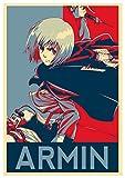Instabuy Poster Attack on Titan Propaganda Armin - Formato A3 (42x30 cm)