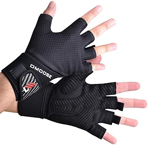 DMoose Workout Gloves for Men and Women Weight Lifting Gloves with or Without Wrist Support product image
