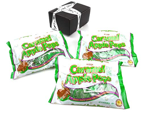 Tootsie Caramel Apple Pops 94 oz Bags in a BlackTie Box Pack of 3