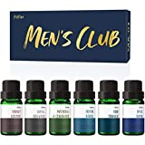 Men's Club Set of Fragrance Oils, MitFlor Premium Scented Oils Set, Soap Candle Making Scents, Oud Tobacco, Spice Bomb, Leather, Santal Rosewood and More, Essential Oils Gift Set for Father's Day