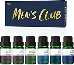 Men's Club Set of Fragrance Oils, MitFlor Premium Scented Oils Set, Soap Candle Making Scents, Oud Tobacco, Spice Bomb, Leather, Santal Rosewood and More, Ideal Aromatherapy Oils Gift for Father's Day