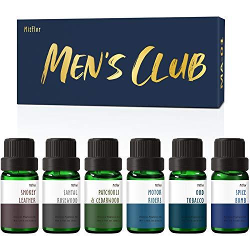 Men's Club Set of Fragrance Oils, MitFlor Premium Scented...