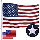 American Flag 4X6 FT Made in USA,INBAG USA Flags with Embroidered Stars,Sewn Stripes Brass Grommets,Long Lasting Durable Nylon US Flag for Outdoor