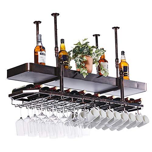 PLHMS Bar wijnglas in rek, omgekeerd restaurant, hangen, wijnglas in rek, decoratie, hangdecoratie, telescooparm, kameraanpassing verlichting