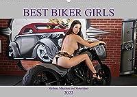Best Biker Girls (Premium, hochwertiger DIN A2 Wandkalender 2022, Kunstdruck in Hochglanz): Mythen, Maedchen und Motorraeder (Monatskalender, 14 Seiten )
