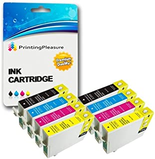 8 XL Compatibles T1281-T1284 (T1285) Cartuchos de Tinta para Epson Stylus S22 SX125 SX130 SX230 SX235W SX420W SX425W SX430W SX435W SX438W SX440W SX445W Office BX305F BX305FW Plus - Alta Capacidad