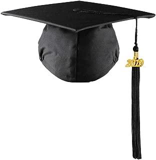 2019 Matte Graduation Cap with Tassel for High School College Graduates (Matte, Black)