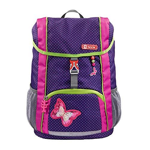 """Step by Step Rucksack-Set Kid """"Shiny Butterfly"""", lila/pink, mit Sitzkissen, ergonomischer Mini-Ranzen mit abnehmbarem Brustgurt, für Kindergarten, Vorschule und Freizeit, 13 l"""