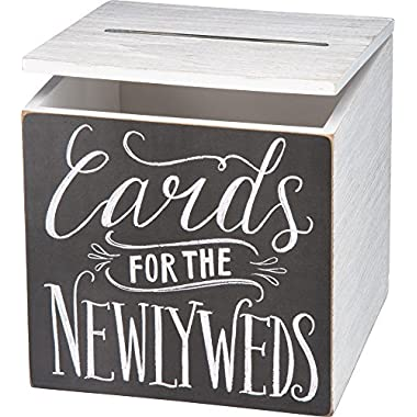 Primitives by Kathy Wedding Card Box, 8  x 8  x 8 , Cards for Newlyweds