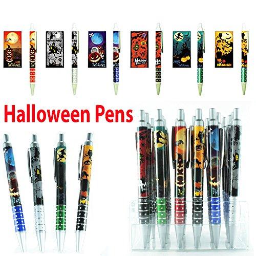 Set of 4 Halloween Holiday Pens - Gift for Her, Gift for him, Gift for Teachers, Holiday Gift Pen Set, Christmas Pens, Halloween Pens, Religious Pens, Back To School, Office, Design Pen Set