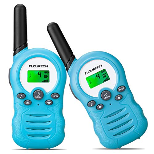 FLOUREON PMR Funkgerät Walkie Talkies 8 Kanäle Walki Talki Funkhandy Interphone mit LC-Display (Blau)