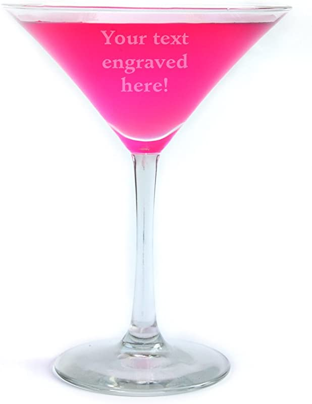 Personalized Martini Glass Engraved With Your Custom Text