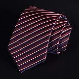 ネクタイシルク100% ジャガード織 レジメン ストライプ (赤)