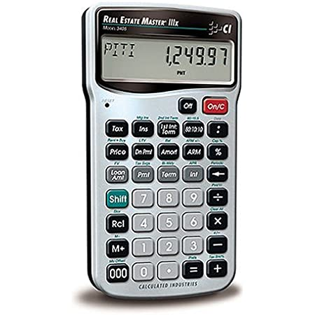Calculated Industries 3405 Real Estate Master IIIx Residential Real Estate Finance Calculator | Clearly-Labeled Function Keys | Simplest Operation | Solves Payments, Amortizations, ARMs, Combos, More