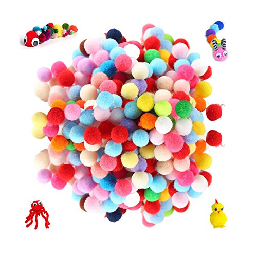 Gresunny Pompon Colorati Feltro Mini Pompoms Pon pon Morbidi e Soffici Palla Assortiti Pompon per Creazione di Artigianato Hobby Bambini Arte Decorazioni Creative DIY