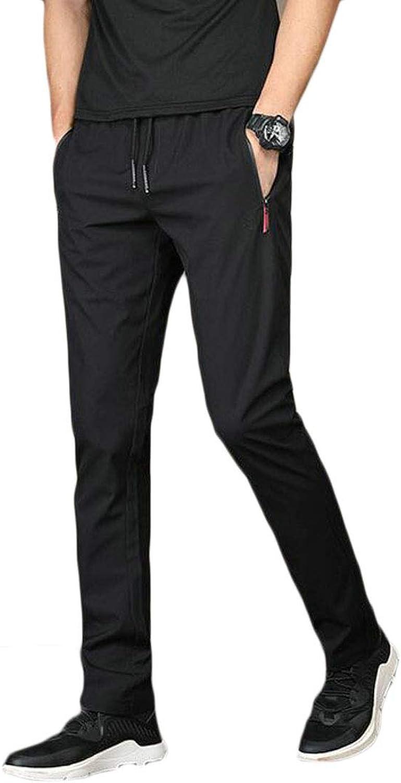 7dec29aa0 Nanquan Men Casual Solid Drawstring Waist Straight Leg Leg Leg Slim ...
