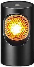 QYHSS Mini Calentador Ventilador, Espacio Personal PortáTil, Calentador Ventilador 220V 300W Ideal Silencioso, para Escritorio, Hogar, Cocina, Dormitorio, Uso En Interiores (Negro)