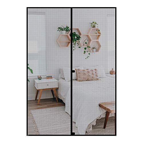 fowong Magnet Fliegengitter Tür Insektenschutz 160x230 cm Magnetischer Fliegenvorhang Moskitonetz Automatisches Schließen Insektenschutz für Balkontür Wohnzimmer Terrassentür Klebemontage ohne Bohren