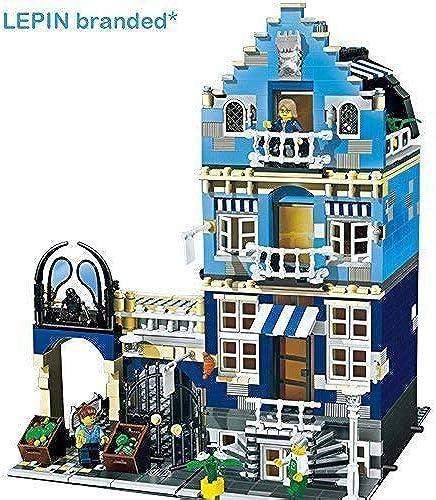 Ingenious Toys ohne Kenzeichen -   Blau Street Haus Spielset 3 Level 1275 St. - Angebot Kompatibel Bricks  15007