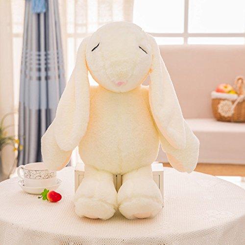 not Schöne Kaninchen Stofftierpuppe, Weiche Kuscheltiere Gefüllte Bettwäsche Kissen Spielzeug, Kinder Baby 38Cm (Weiß)
