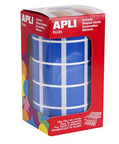 Oferta de APLI Kids - Rollo de gomets cuadrados 20,0 mm, color azul