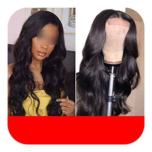 PJPPJH Perruques pour Femmes Cheveux Humains Avant de Lacet Cheveux Humains pour Les Femmes Noires Dentelle Perruque Frontale 150 densité Avant de Lac
