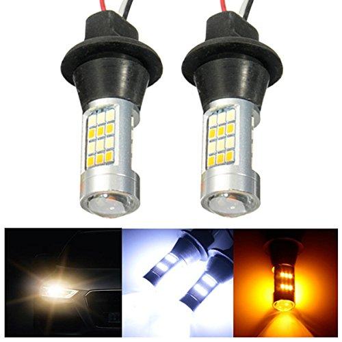 MASUNN Paire 50W sans Erreur T20 LED Dual-Couleur Feux de Circulation diurne Tour de Clignotant Kit Ampoule