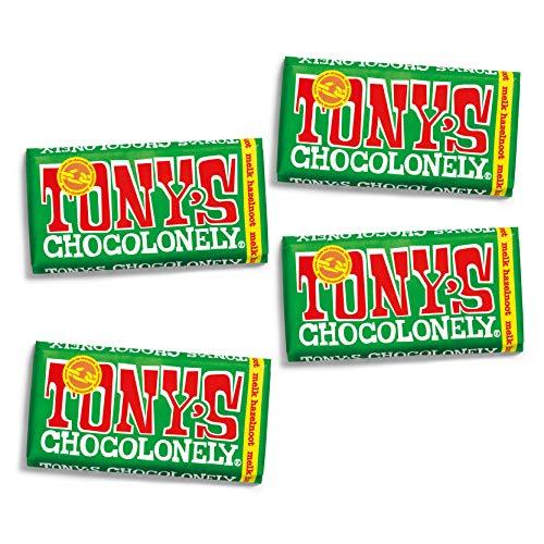 Tony's Chocolonely – Chocoladereep Melk Hazelnoot – 4 x 180 gram – Fairtrade Chocolade