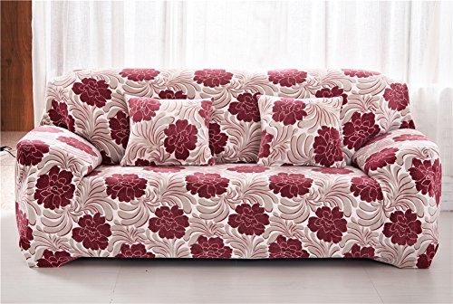 Getmorebeauty Super Suave Franela elástica elástico Silla Lounge sofá sofá Slipcovers, antiácaros Invierno protección 1234plazas sofá Cubierta, Rosa peonía, 4 Seater