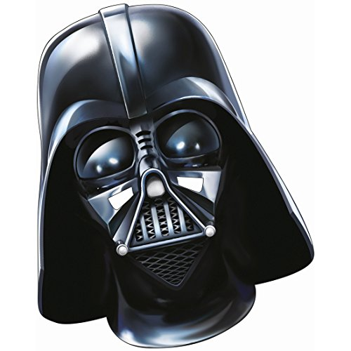NET TOYS Star Wars Darth Vader Movie Maske Lord Vader Pappmaske Erwachsener Sith Meister Todesstern Kriegermaske Das Erwachen der Macht Soldatenmaske Jedi Maskerade Dunkler Herrscher Glanzkartonmaske