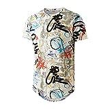 YININF Mens Hipster Hip-Hop Urban Tees - NYC Street Fashion Graffiti Animation Print T-Shirt(210...