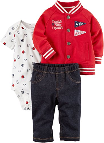 Carter's Baby Boys' 3 Piece Daddy's Team Captain Little Jacket Set 18 Months