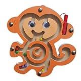 DARLINGTON & Sohns Kleines Affen Labyrinth Kugellabyrinth Spiel aus Holz Geschicklichkeitsspiel Kinder motorische Fähikgkeiten Reise-Spiel Motorik-spiel