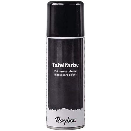 Rayher 38218576 vernice lavagna spray, bomboletta 200ml, vernice con effetto lavagna da spruzzare, colore nero opaco