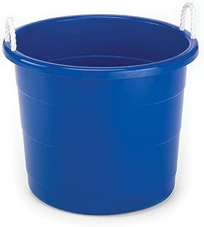 Homz Rope Handle Tub, 17 Gallon, Blue, Set of 8